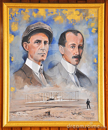Portrait of Wright Brothers Editorial Stock Photo