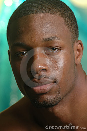 Portrait of a young african american male
