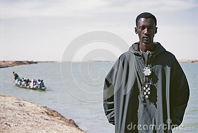 Portrait of a young African Editorial Photo