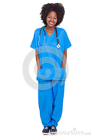 Young african nurse