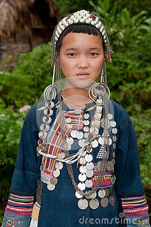 Portrait young Akha in Laos
