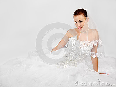 Portrait of young beautiful bride