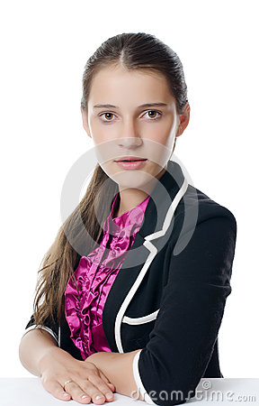 Portrait of the young beautiful businesswoman
