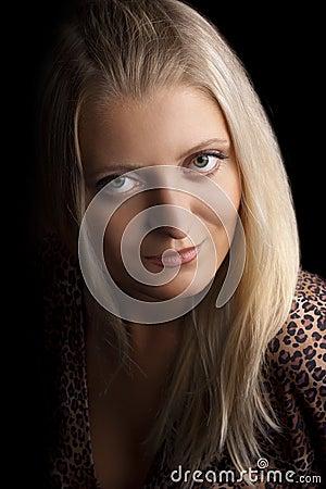 Portrait young beautiful girl