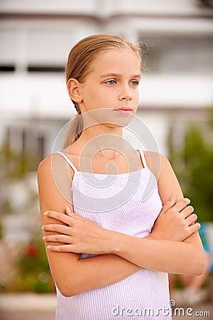 Portrait of young beautiful girl-teenager