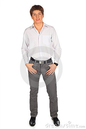 Portrait of young beauty man full body