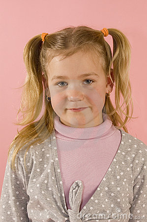Portrait of a young blond girl