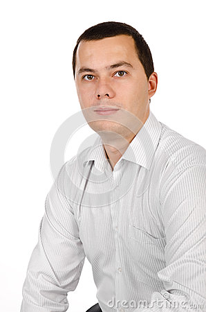 Portrait of young businessman isolated