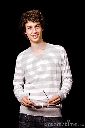 Portrait of young casual man