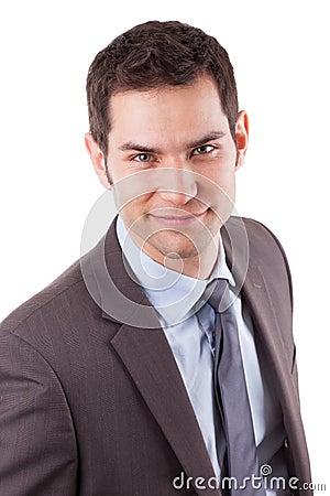 Portrait of a young caucasian business man