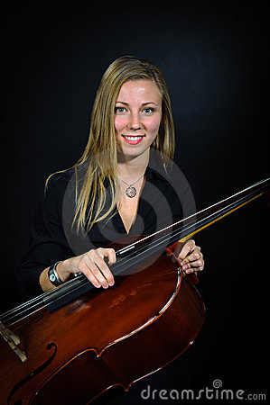 Portrait of young cellist