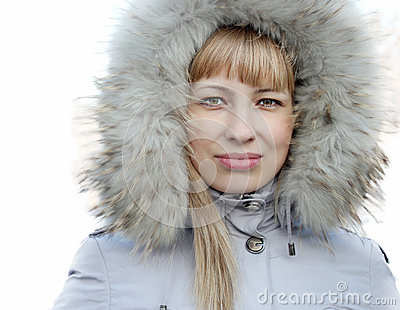 Portrait of young girl in a jacket