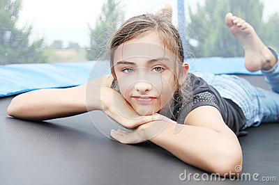 Portrait of young girl relaxing.
