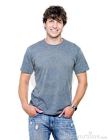 Portrait of the young happy smiling man