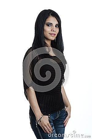Portrait of a Young Hispanic Female
