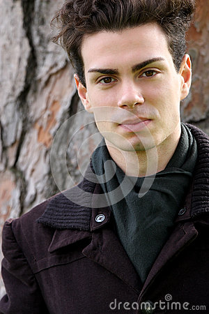 Free Portrait Young Man With Coat Royalty Free Stock Photo - 44106195