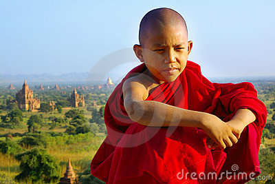 Portrait of young monk