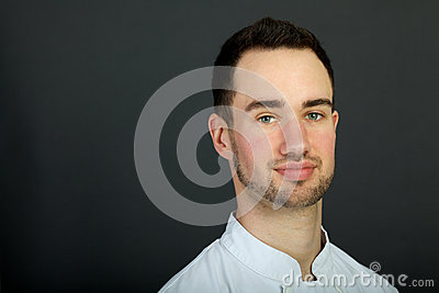 Portrait of a young pastry chef