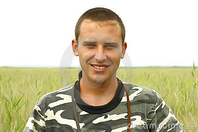 Portrait of a young Ukrainian military