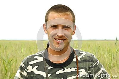 Portrait of a young Ukrainian military