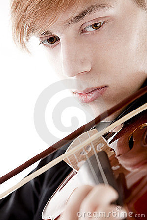 Portrait of a young violinist