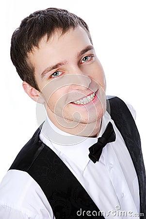 Portrait young waiter
