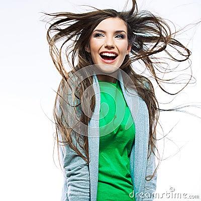 Portrait of young woman casual portrait  positive
