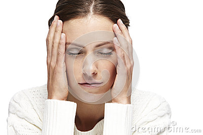 Portrait of a young woman, eyes closed Stock Photo