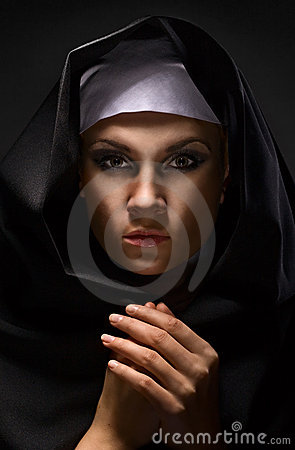 Portrait of a young woman nun