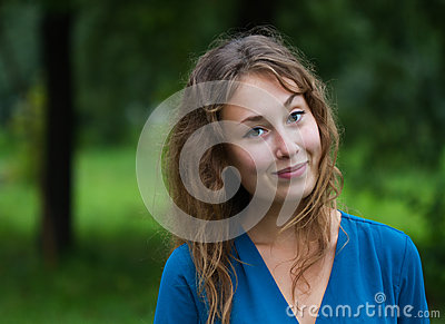 Portrait young woman smiling