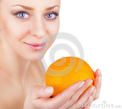 Girl with orange