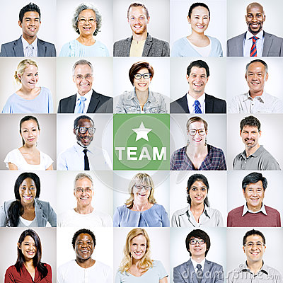 Portraits of Multiethnic Diverse Business People