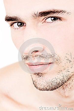 Portraiture of attractive handsome male model