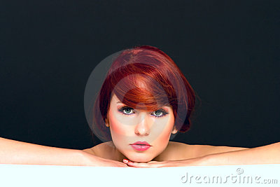 Portraiture of attractive young female model woman