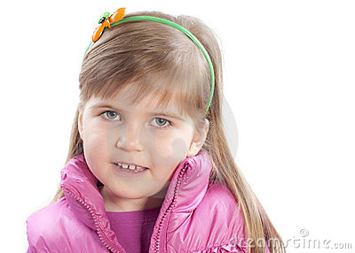 The portret of little girl