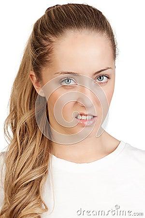 Portret młoda atrakcyjna blondynka