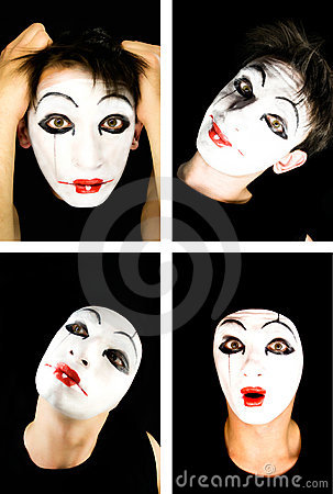 Free Portret Of The Mime Royalty Free Stock Photography - 7623007