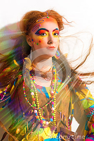 Free Portret Of The Young Pretty Hippie Girl Royalty Free Stock Image - 67255596