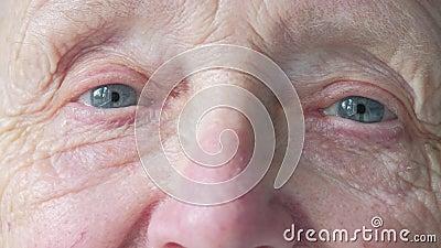 Portret starsza caucasian kobiety ` s twarz zbiory