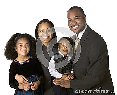 Portret van Afrikaanse Amerikaanse familie
