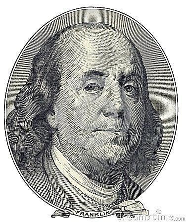 Portret van Benjamin Franklin