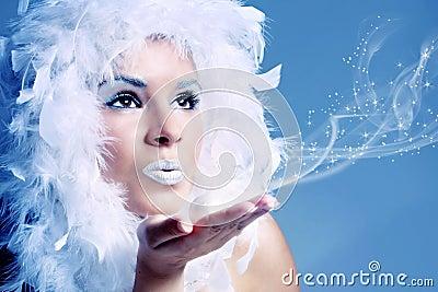 Portret van de winterkoningin