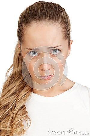 Portret van een jonge aantrekkelijke blonde