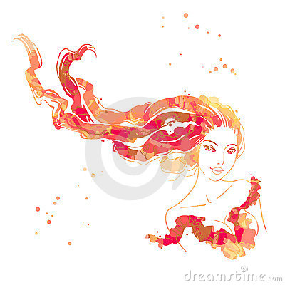 Portret van mooie vrouwen met lang haar