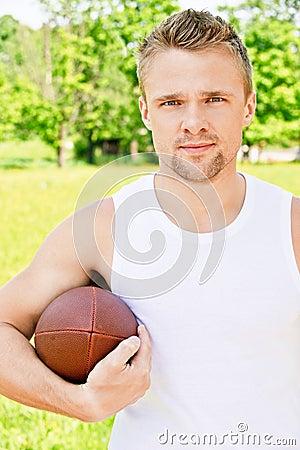 Portret van sportman van Rugby