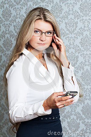 Portret of young businesswoman