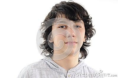Portreta piękny nastolatek