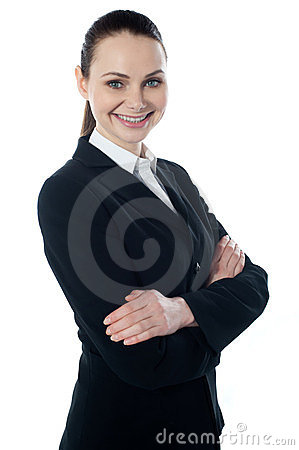 Portriat of corporate lady, smiling