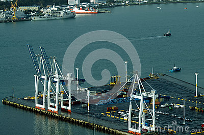 Ports of Auckland in Auckland New Zealand NZ Editorial Photo