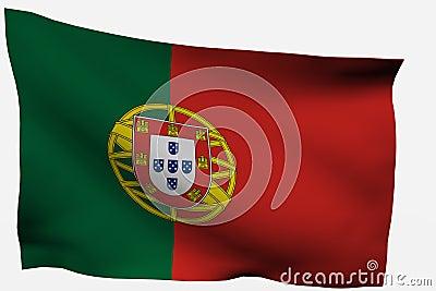 Portugal 3d flag